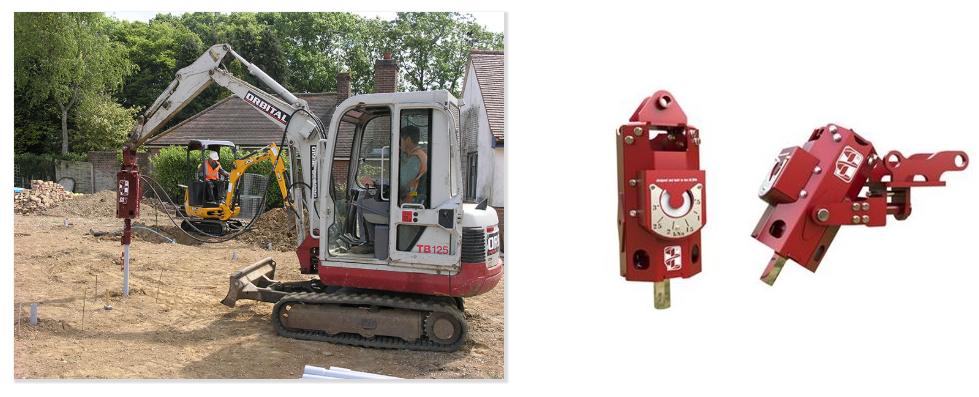 Excavator Screw Pile Driver 1
